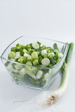 Spring onions, whole and sliced Stock Images