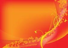 Spring orange background Stock Images