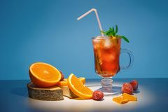 Free Spring Orange Cocktail. Tropical Cocktail Royalty Free Stock Images - 141320899