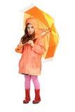 Spring orange girl Stock Image