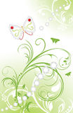 Spring ornamental background with shining strasses. Illustration Royalty Free Stock Images