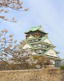 Spring in Osaka castle Stock Photo