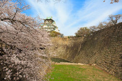 Spring in Osaka castle Stock Photography