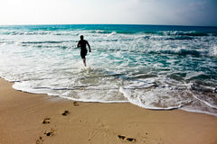 Spring på kusten Royaltyfria Foton