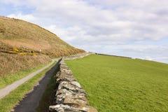 Spring panorama of Isle of Man Stock Photo