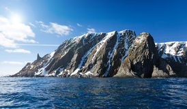 Spring panorama of North Cape cliff Royalty Free Stock Image