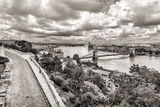 Spring panoramic photo of the budapest historic center Stock Photo