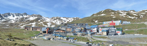Spring panoramic view of the town Pas de la Casa Royalty Free Stock Photo