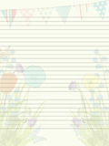Spring paper sheet Royalty Free Stock Photos