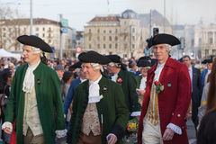 Spring Parade of Guilds in Zurich Stock Photo