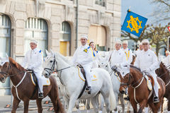 Spring Parade of Guilds in Zurich Stock Images