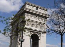 Spring in Paris. Arc de Triomphe in Paris in the spring Stock Photo