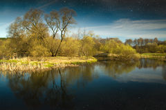 Spring in the parks and forests of Europe. Elements of this image furnished by NASA Royalty Free Stock Photo