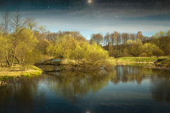 Spring in the parks and forests of Europe. Elements of this image furnished by NASA Royalty Free Stock Image