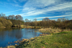 Spring in the parks and forests of Europe. Picturesque landscape Royalty Free Stock Photo