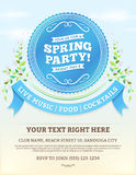 Spring Party Invitation Royalty Free Stock Photography