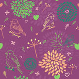 Spring pattern. Cute abstract spring pattern in vector Royalty Free Stock Photos