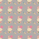 Spring pattern with bees for wrapping, texture, cover, envelope. Spring pattern with funny bees for wrapping texture cover, envelope Royalty Free Illustration