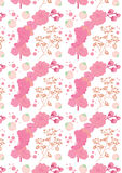 Spring pattern,with blooming pink flowers. Could be used as wallpaper,background,for textiles ore gift bags,gift cards Royalty Free Stock Photo
