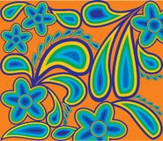 Spring pattern from colour contours Stock Photos