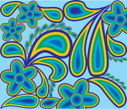 Spring pattern from colour contours1 Stock Photo