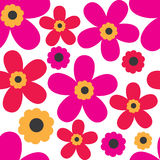 Spring pattern with cute flowers Royalty Free Stock Image