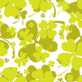 Spring Pattern with Green Clover Stock Images