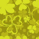 Spring Pattern with Green Clover Stock Photo