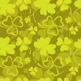 Spring Pattern with Green Clover Royalty Free Stock Photo