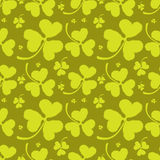 Spring Pattern with Green Clover Royalty Free Stock Image