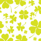 Spring Pattern with Green Clover Royalty Free Stock Images