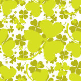 Spring Pattern with Green Clover Stock Image