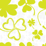 Spring Pattern with Green Clover Stock Photos