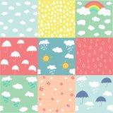 Spring pattern set Stock Images
