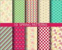 Spring pattern set Stock Photography