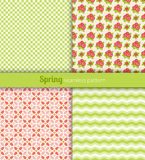Spring patterns Royalty Free Stock Image