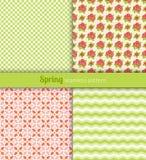 Spring patterns Royalty Free Stock Image