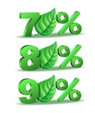 Spring Percent discount icon Stock Photos