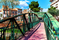 Spring in the Perpignan city. Stock Image