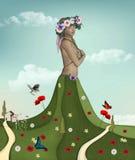 Spring personification. Digital artwork illustration Royalty Free Stock Photos