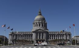 San Francisco City Hall. This is a Spring picture of the iconic San Francisco City Hall on the Civic Center Plaza located in San Francisco, California.  This Stock Image
