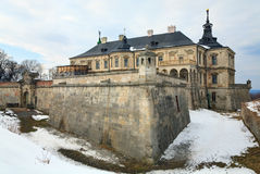 Spring Pidhirtsi Castle view (Ukraine) Royalty Free Stock Image