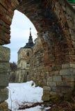 Spring Pidhirtsi Castle view (Ukraine) Stock Image