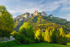 Spring in the Pieniny with Three Crowns Stock Photo