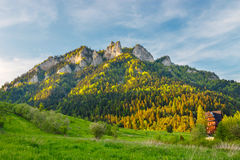 Spring in the Pieniny with Three Crowns Royalty Free Stock Photography