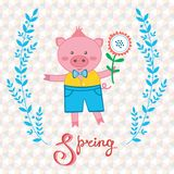 Spring pig Royalty Free Stock Image