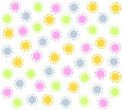 Spring Pink Circles Pattern Background 2 Stock Images