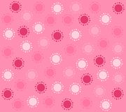Spring Pink Circles Pattern Background Royalty Free Stock Images