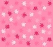 Spring Pink Circles Pattern Background vector illustration