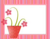 Spring Pink Easter Flower Pot  Stock Photography